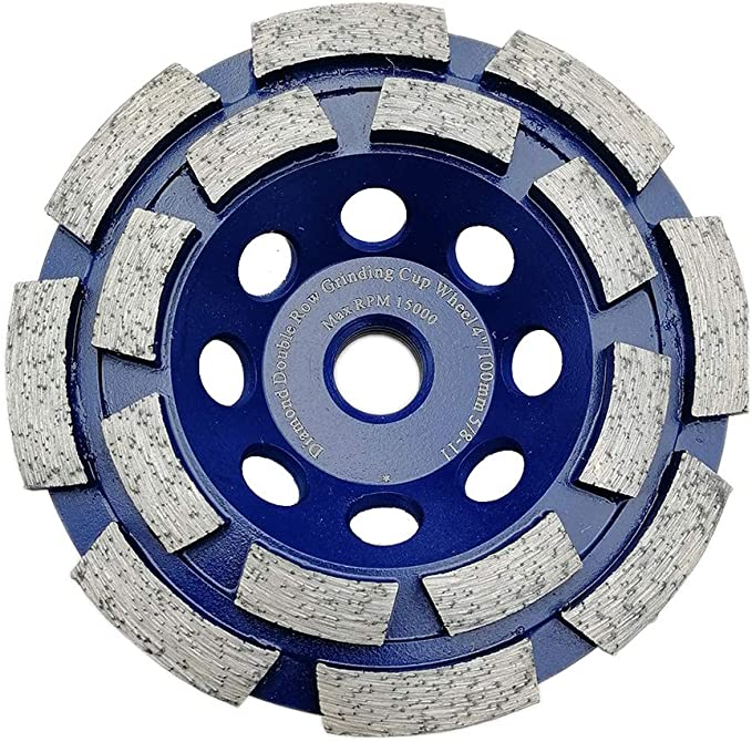 Marble,100x20mm Turbo Row 12-Segment Angle Grinder, Granite,Stone Pack of 1,Blue Tone HONJIE 4 Inch Cup Diamond Grinding Wheel Disc for Concrete