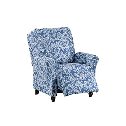 Amazoncom Collections Etc Two Toned Paisley Stretch Knit Furniture