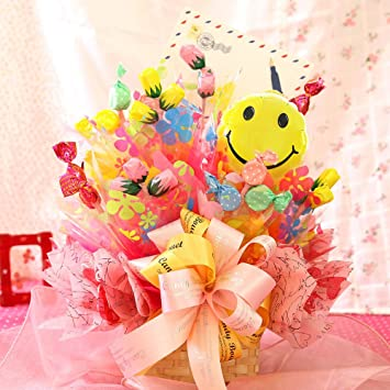 「プレゼント お花 お菓子ブーケ」の画像検索結果