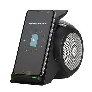Cargador Inalámbrico Rápido con Altavoz Bluetooth, Soporte ...