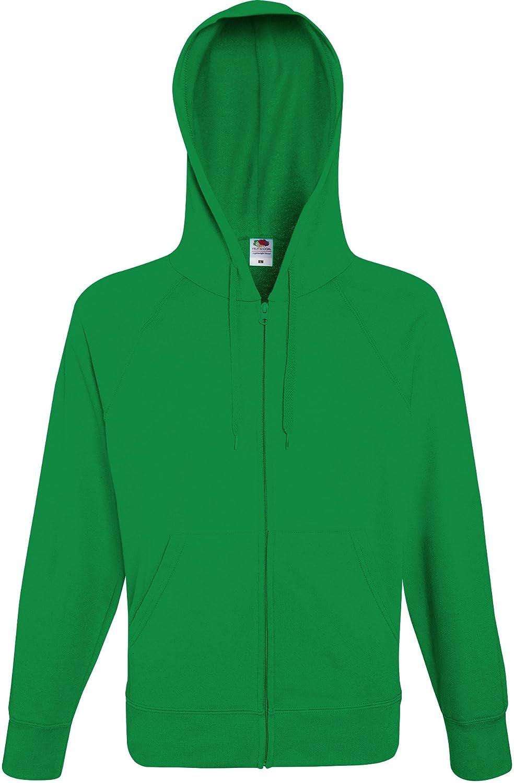 Fruit of the Loom Men's Lightweight Hooded Sweat Jacket Hoodie