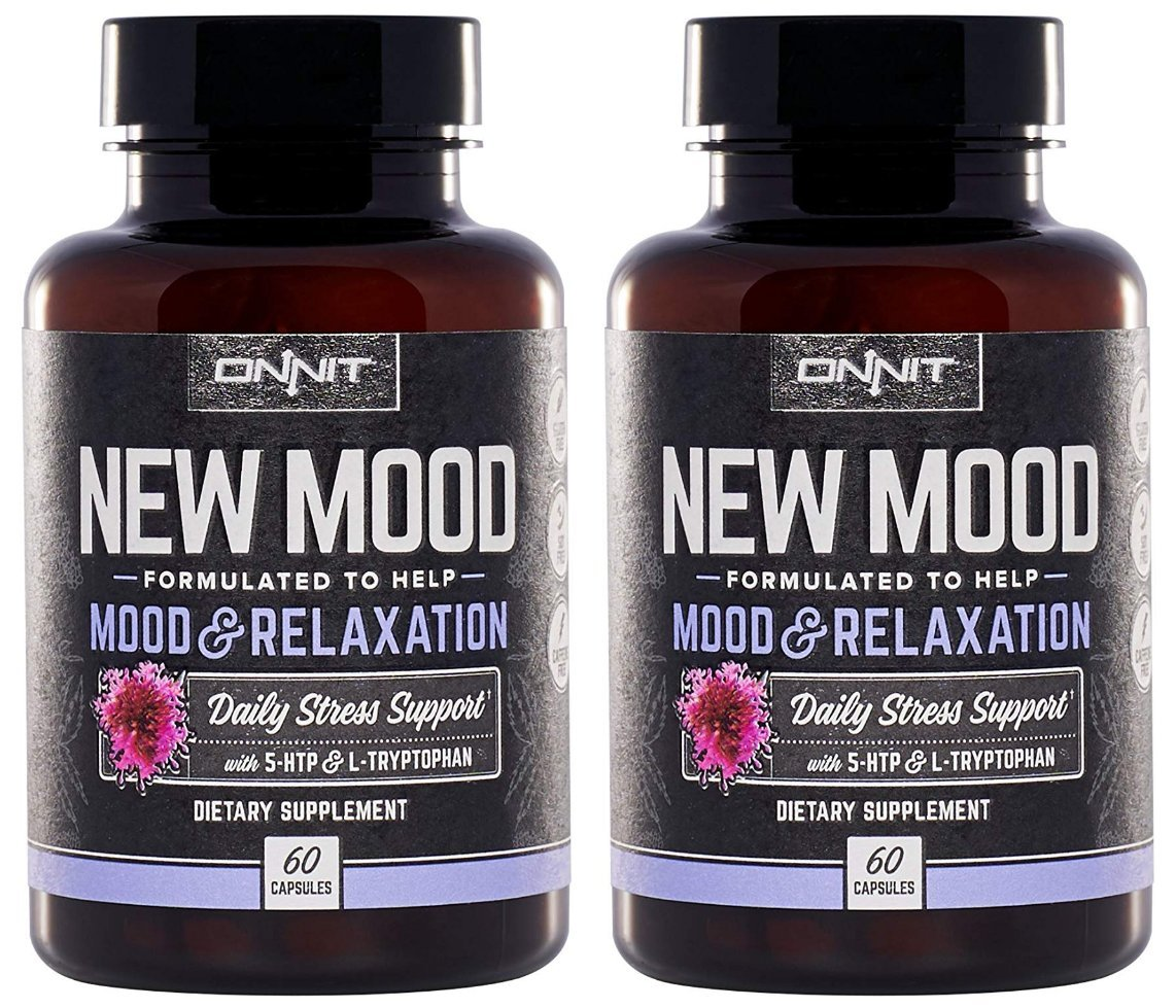 Onnit New Mood: Daily Stress, Mood, and Sleep Support Supplement (120ct)