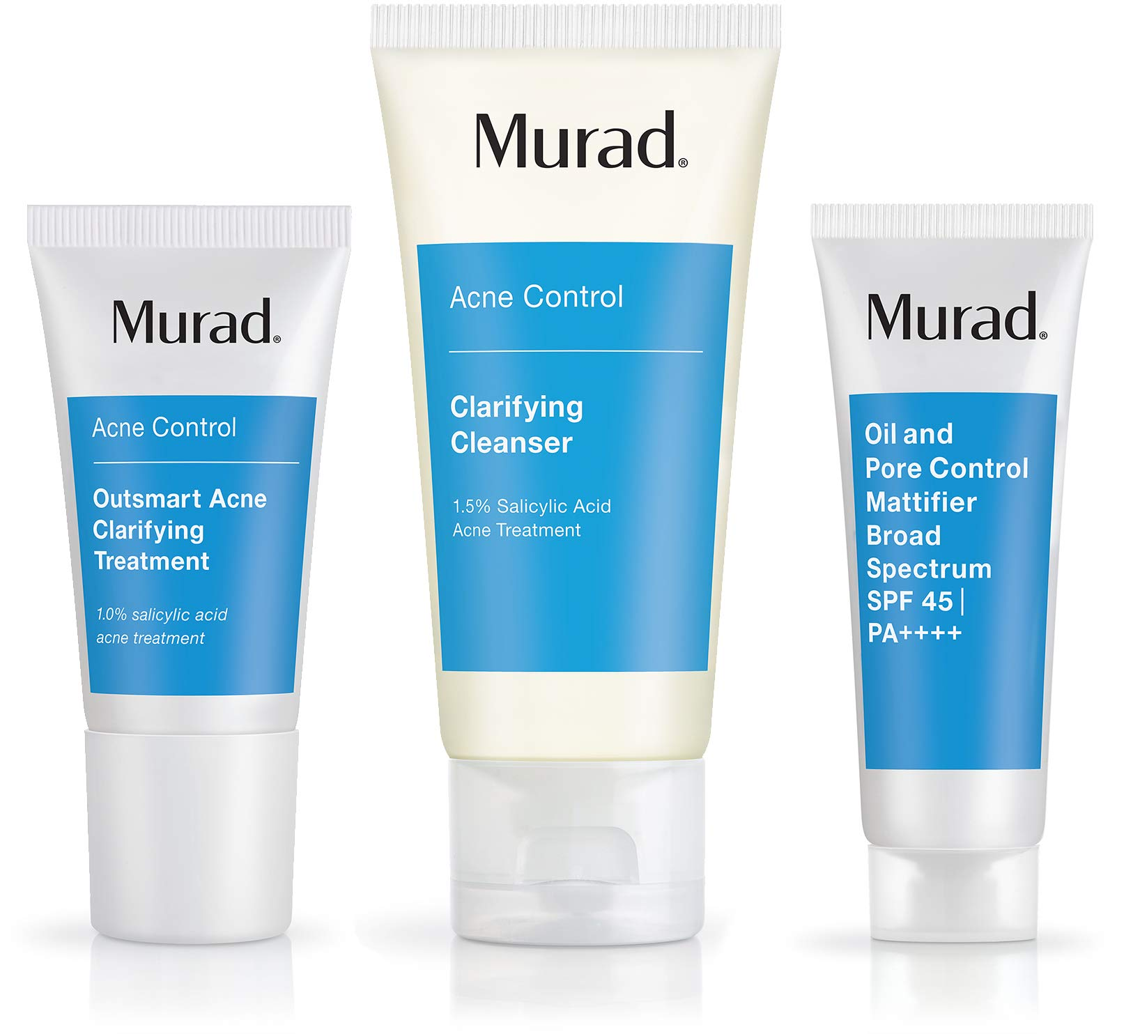 Murad Get Over Zit Kit - Acne Control Regimen | Clarifying Cleanser, Treatment and SPF | 3 Piece Kit by Murad