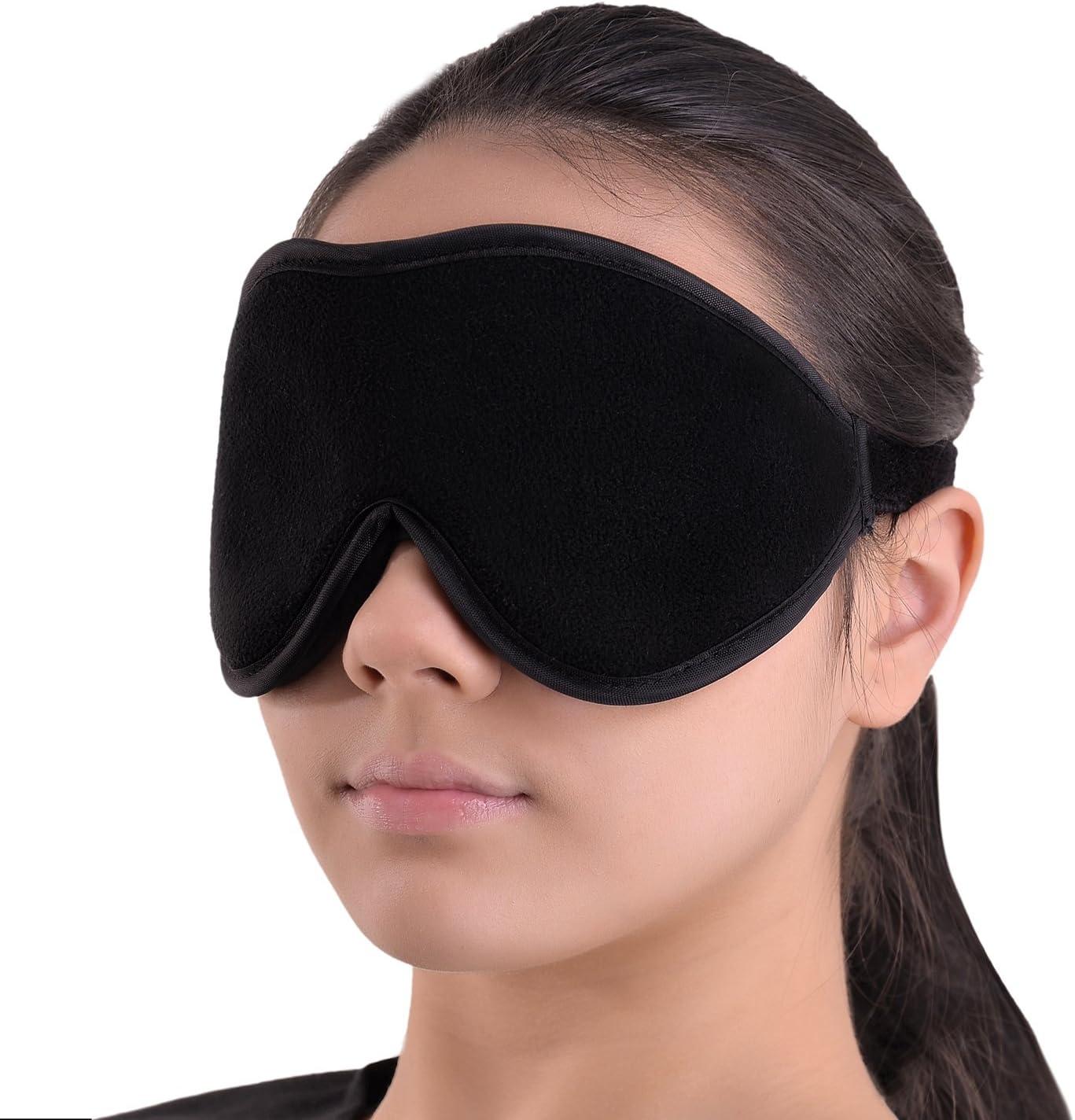 Antifaz para Dormir - Suave Venda para Ojos para Viajar 100% Anti-Luz Totalmente Opaco