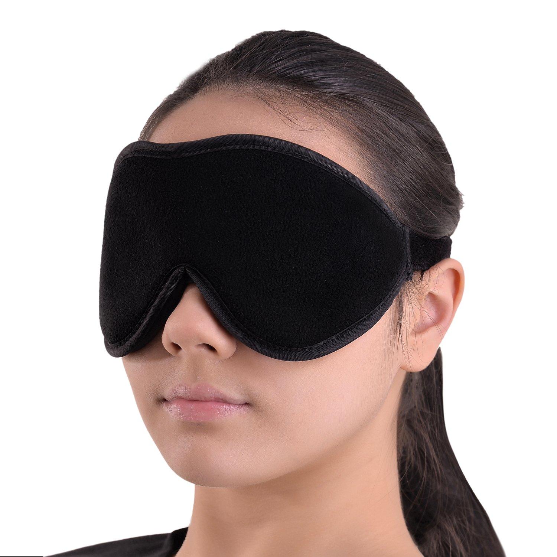 a55bfe21be9 Amazon.com  Sleep Mask Blindfold Eye Shades - 100% Light Blocking -  Blackout Sleeping Mask is Comfortable for Relaxation Migraines Insomnia -  Travel Mask is ...