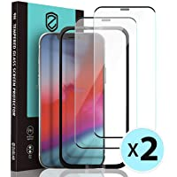 "[2 Pack] ZUSLAB Dustproof Screen Protector for iPhone 12 Pro 6.1"" & iPhone 12 6.1"" Tempered Glass with Installation…"