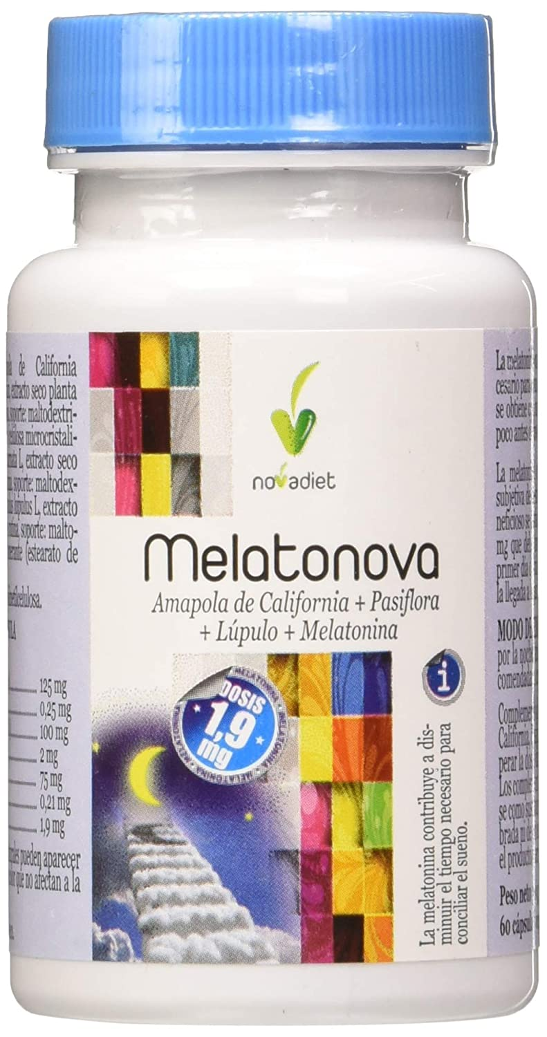 MELATONOVA (MELATONINA 1,9 mg) 60 Caps: Amazon.es: Salud y cuidado ...