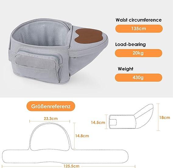 BAMNY - Asiento de cadera para bebé, cintura ligera, taburete con ...