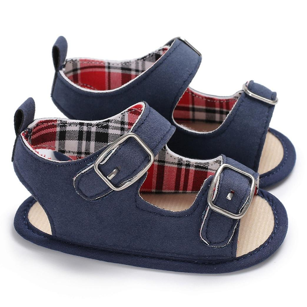 Moonker Baby Shoes,Infant Toddler Baby Girl Boy Summer Breathable Open-Toe Beach Walking Two-Strap Sandals 0-18M