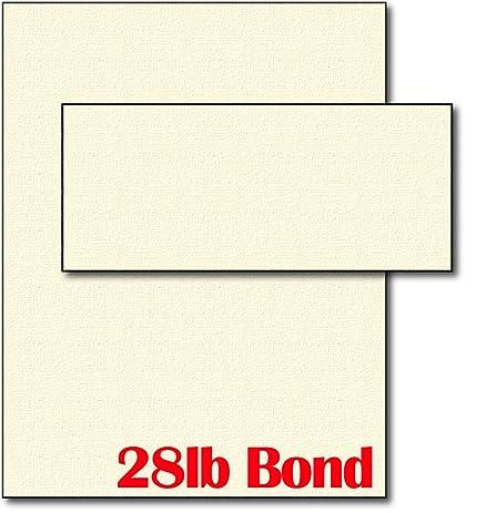 28lb Cream Linen Resume Paper & Envelopes - 40 Sets