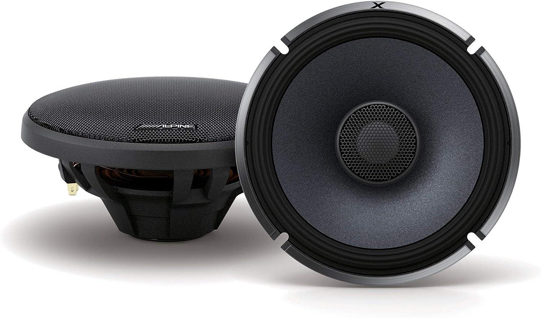 Alpine X-Series 6.5 Inch 330 Watt Coaxial 2-Way Car Audio Speakers, Pair   X-S65