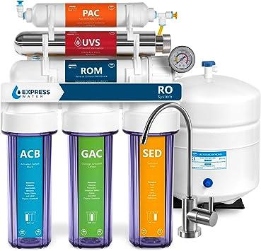 Express agua 6 Etapa UV ultravioleta sistema de filtrado de ...