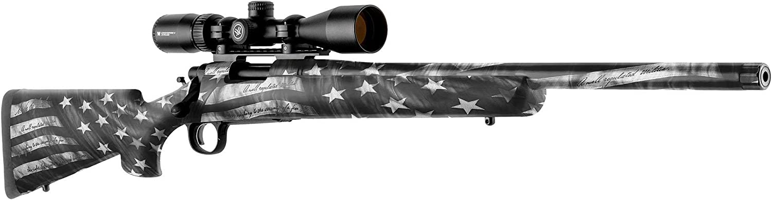 GunSkins Rifle Skin - Premium Vinyl Gun Wrap with Precut Pieces - Easy to Install and Fits Any Rifle - 100% Waterproof Non-Reflective Matte Finish - Made in USA