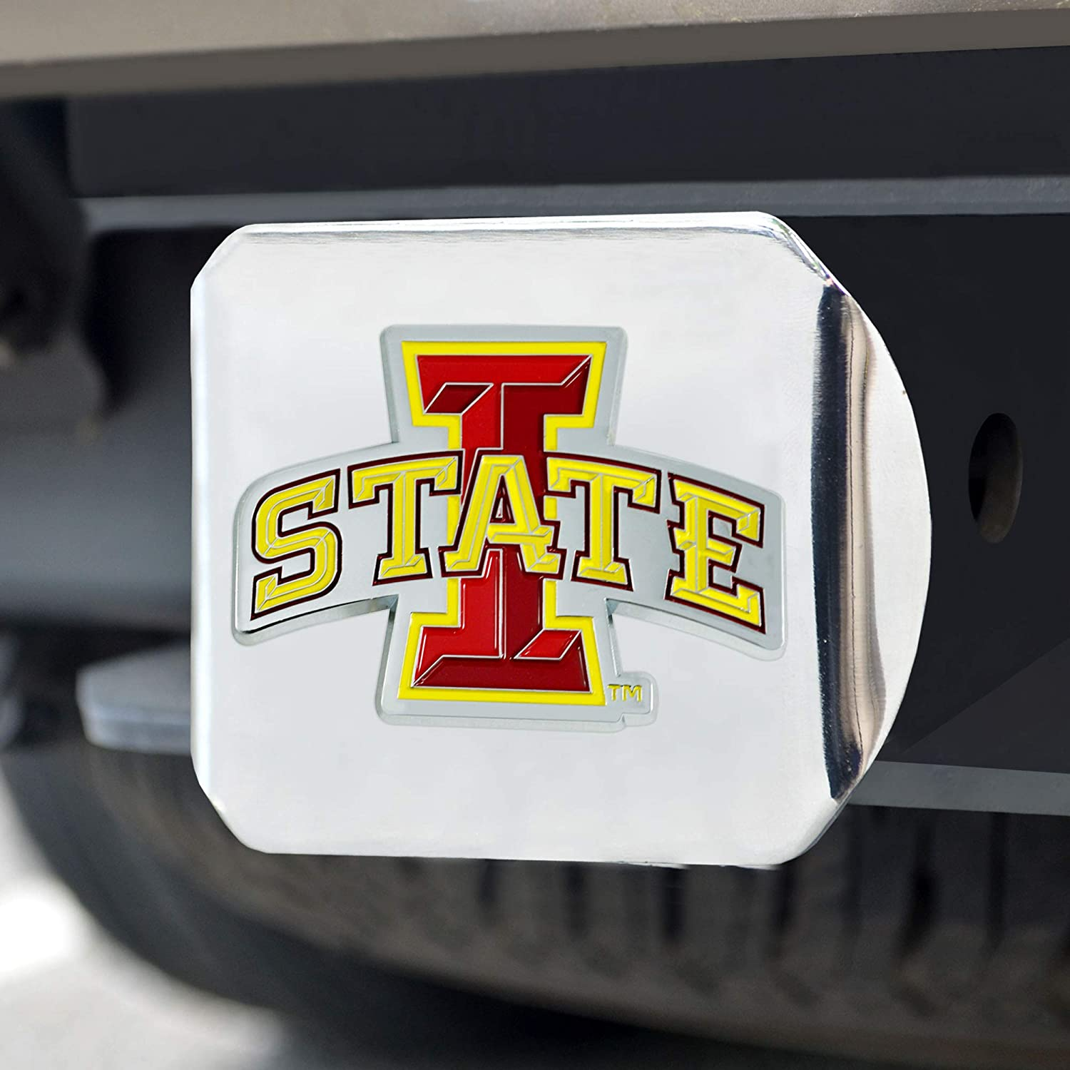 One Sized Team Colors Chrome FANMATS NCAA Iowa State Cyclones Color Hitch Chromecolor Hitch