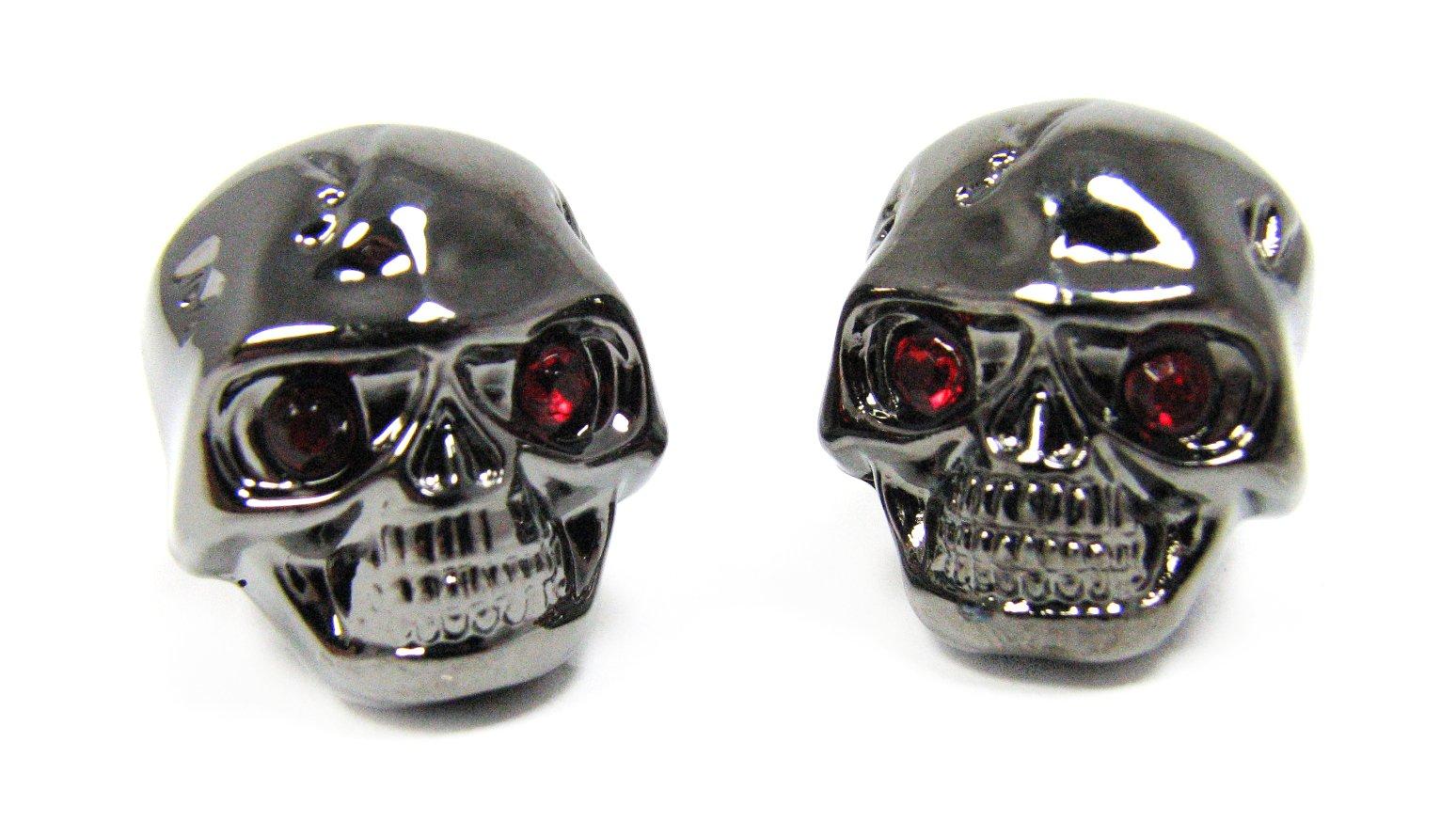 2-pack Potentiometer Knobs: Dark Chrome Skull