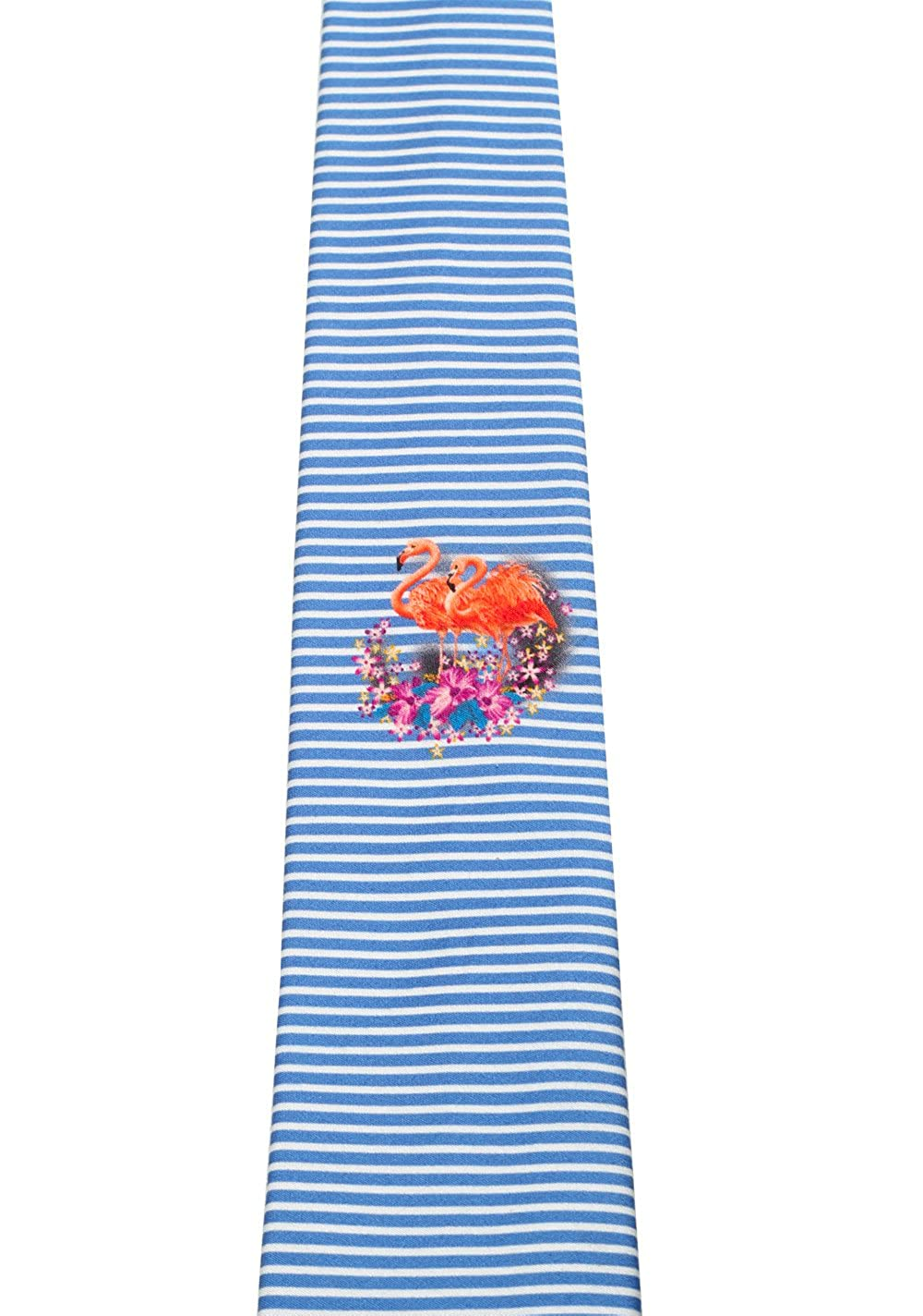 Gucci CL Blue Patterned Flamingo Tie: Amazon.es: Ropa y accesorios