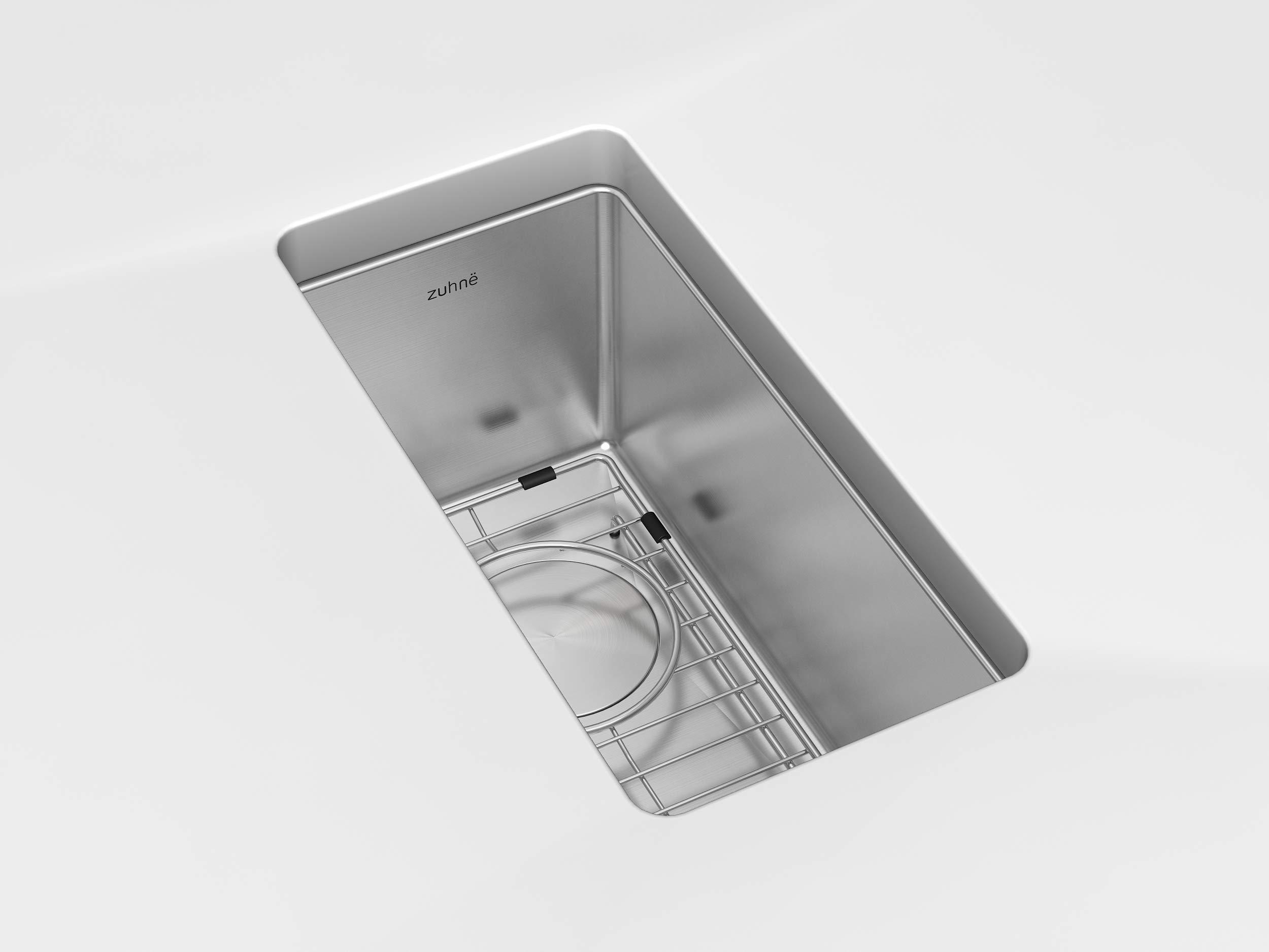 Zuhne Modena 10 x 18 Inch Undermount Single Bowl 16 Gauge Stainless Steel Bar or Prep Kitchen Sink by Zuhne (Image #2)