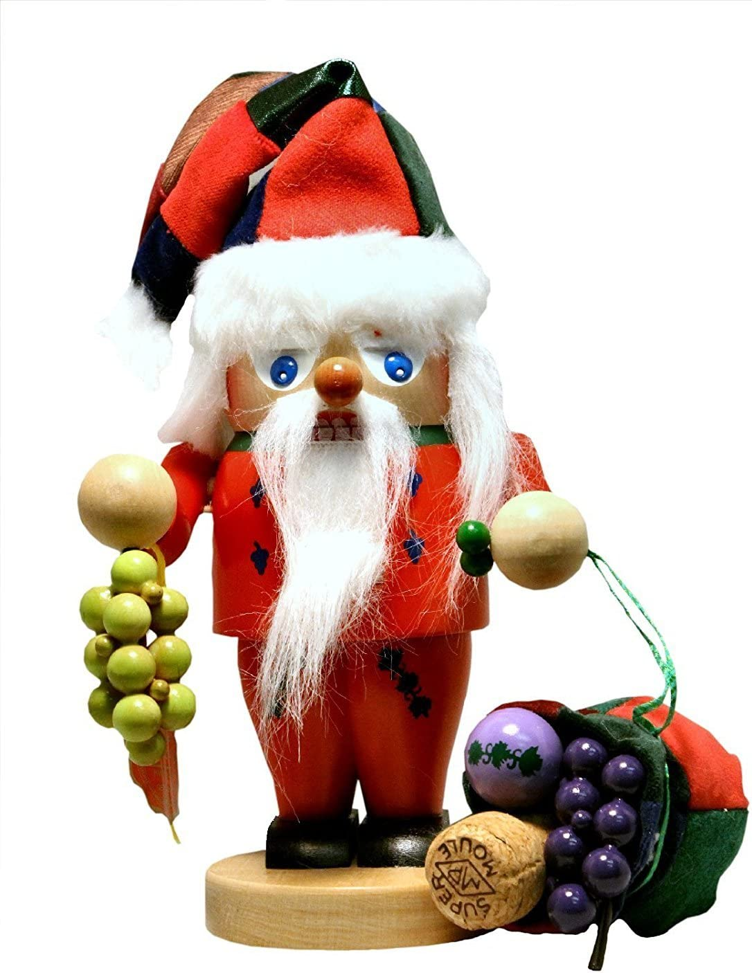 Amazon Com Steinbach Signed Troll Wine Santa Claus German Christmas Nutcracker Germany Home Kitchen