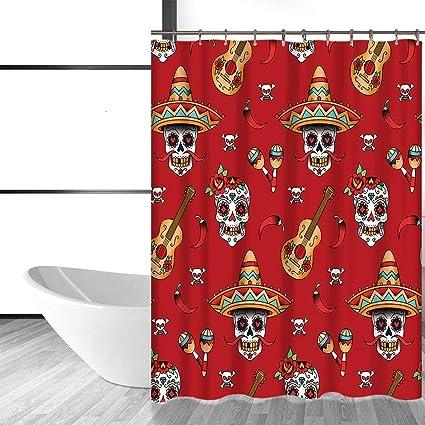 acheter rideau de douche tete de mort online 22