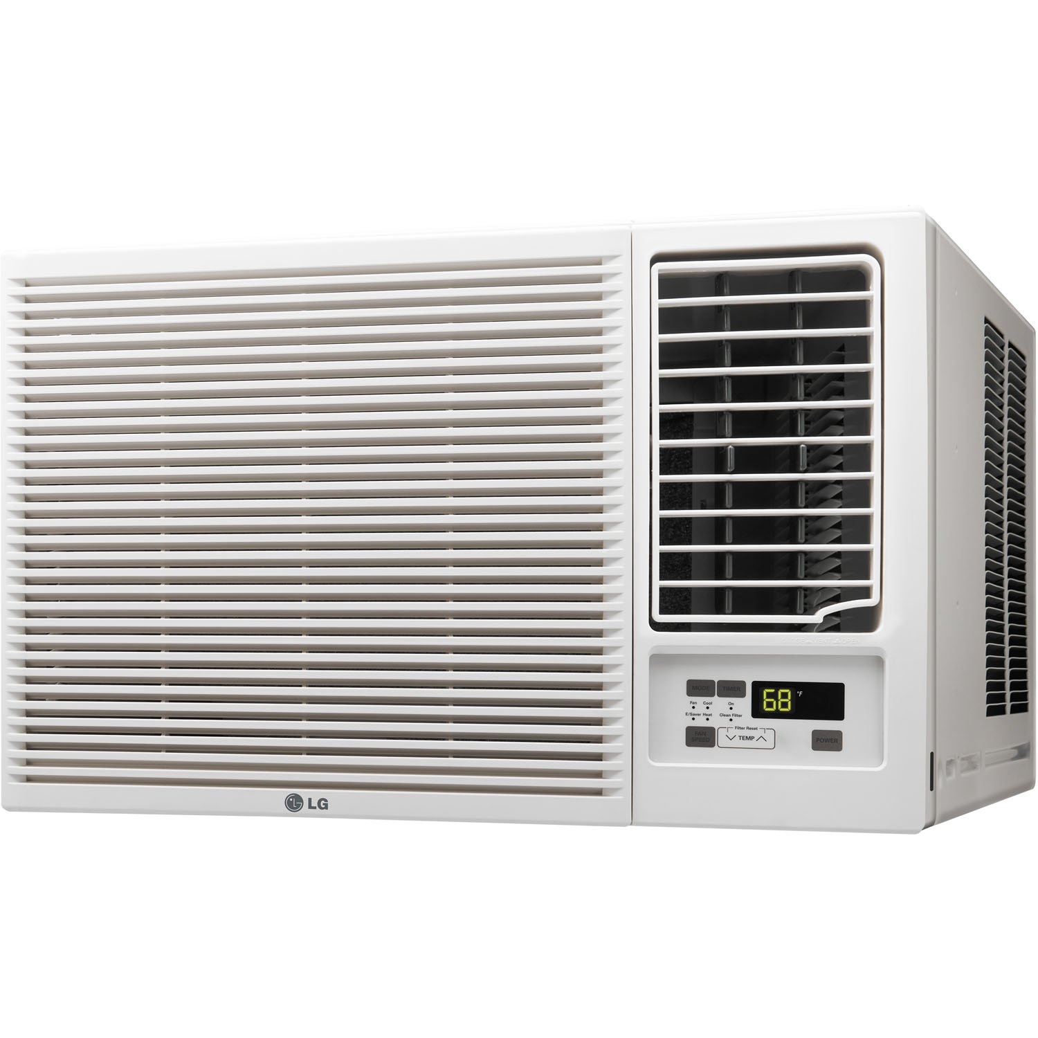 amazoncom lg electronics lw1215hr 12000 btu 230 volt slide in out chassis air conditioner with 11200 btu supplemental heat function home kitchen - Air Conditioner And Heater