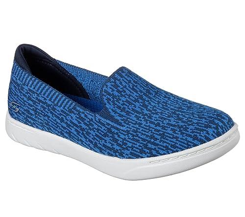 Skechers Millenial Womens Slip On Sneakers Navy/Blue 6 uhuwGfhv