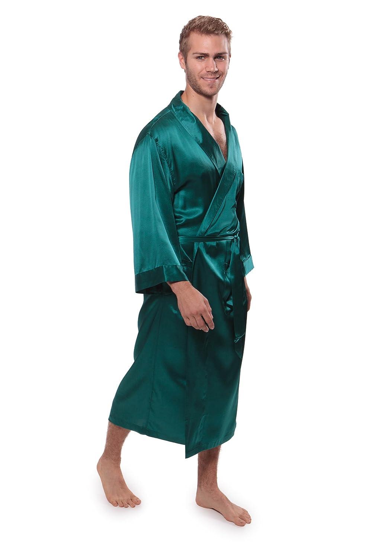 Texeresilk Men\'s Silk Robe - Luxury Bathrobe for Men - Silk Bathrobe ...