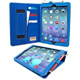 iPad Air (iPad 5) Case, Snugg™ - Executive Smart Cover With Card Slots & Lifetime Guarantee (Electric Blue Leather) for Apple iPad Air (2013)