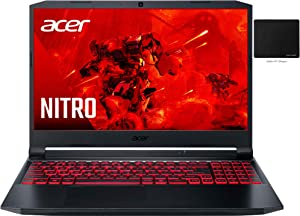 "Newest Acer Nitro 5 15.6"" FHD IPS Gaming Laptop, 11th Gen Intel 6-Core i5-11400H, NVIDIA GeForce GTX 1650, 16GB DDR4 RAM, 256GB NVMe SSD, DTS X Ultra, Backlit KB, WiFi 6, Win 10, GalliumPi Accessories"