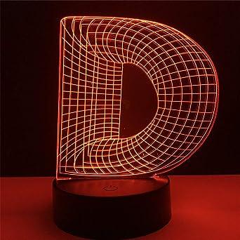 Lámparas de 3D LED cerca de la luz, 7 colores , Arte táctil ...