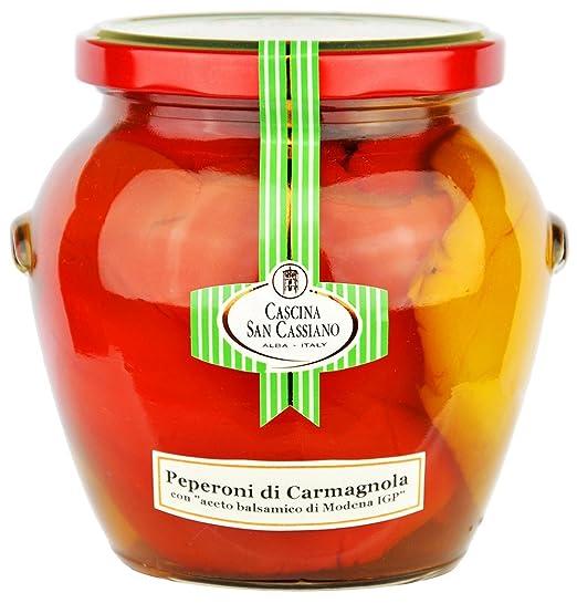 Cascina San Cassiano - Pimientos Carmagnola Agridulces con Vinagre Balsámico 560gr