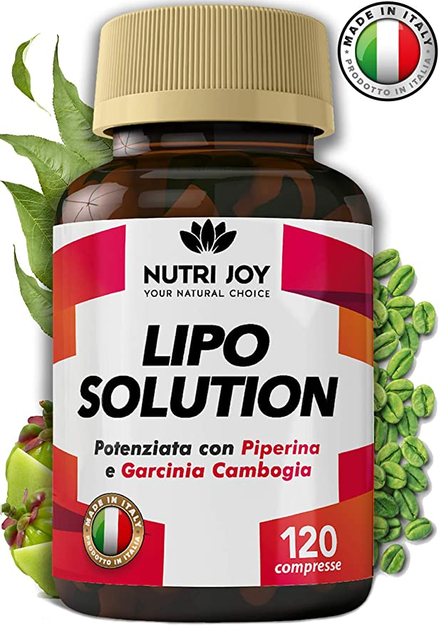 53 opinioni per 120 Compresse | Fat burner LIPO SOLUTION | Termogenico Naturale | MADE IN ITALY