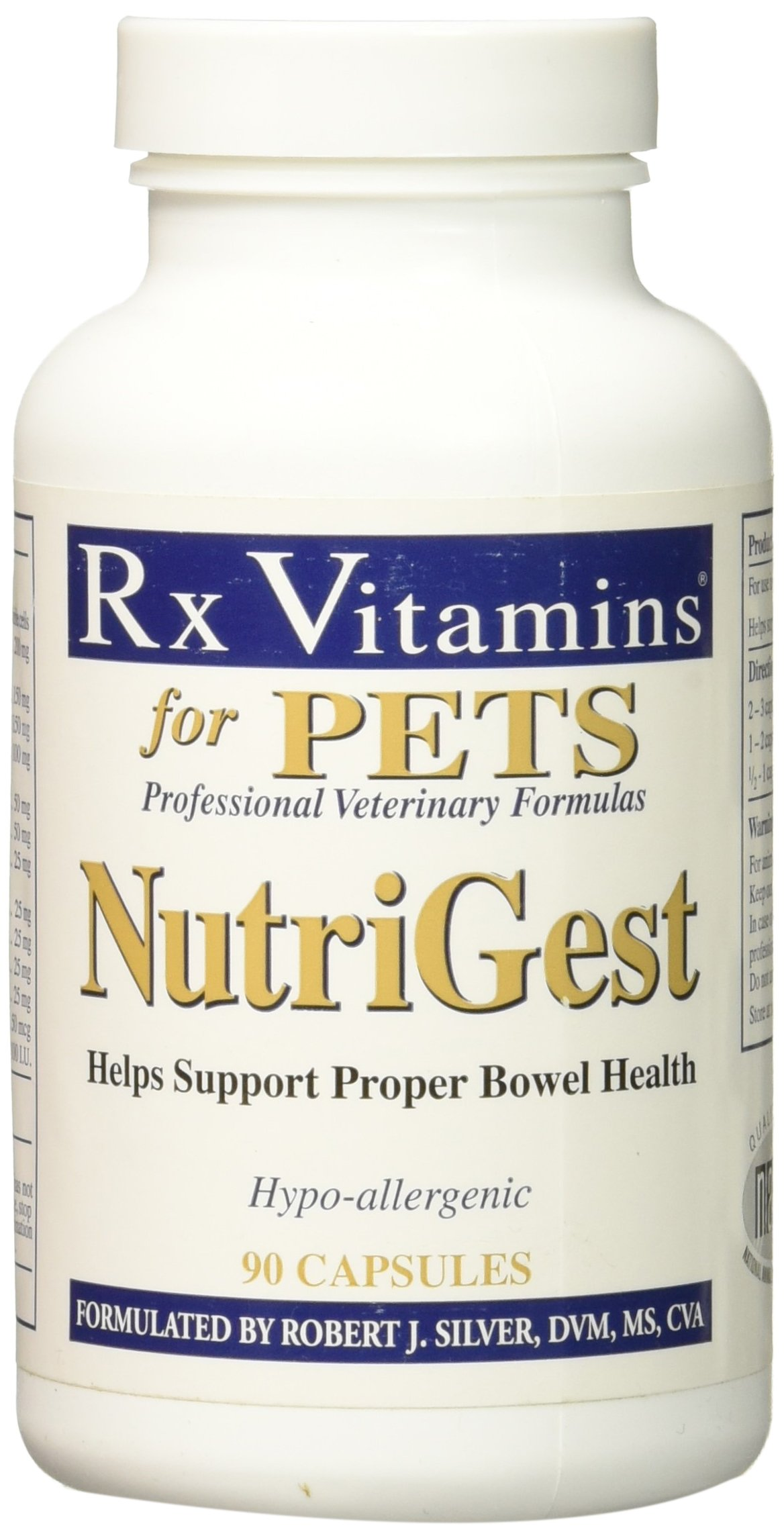Rx Vitamins Nutrigest 90 Capsules for Dogs and Cats, One Size