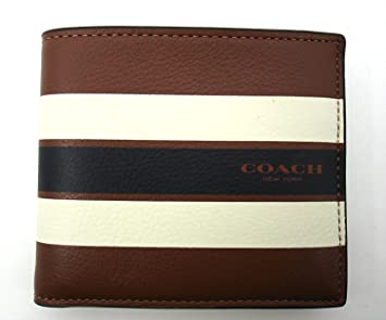 Coach - Cartera para hombre marrón Dark Saddle