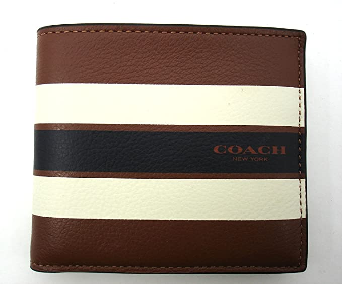 7e1091a7b5661 Image Unavailable. Image not available for. Colour  Coach Men s Double Bill  Fold Varsity Leather Wallet ...
