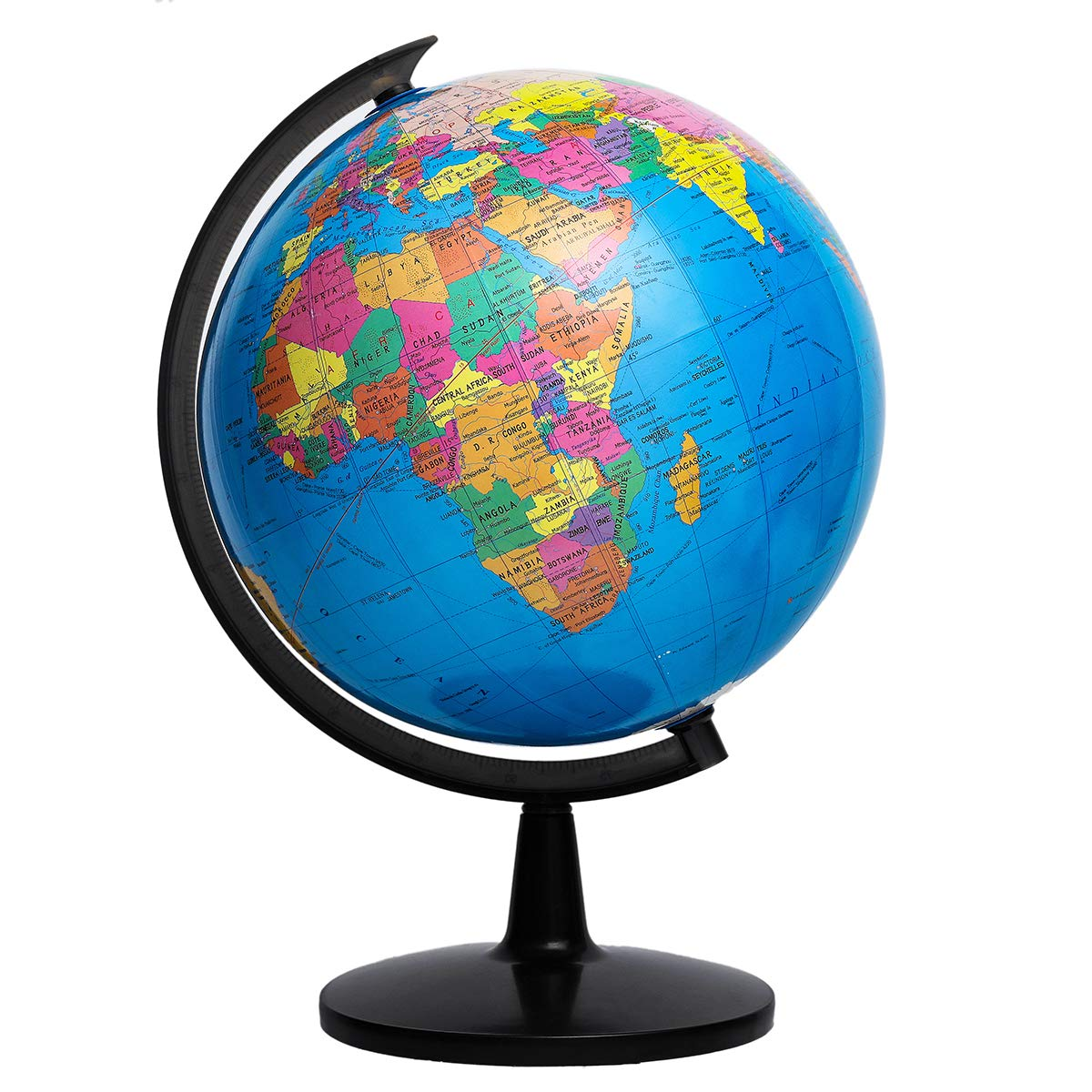 KingSo World Globe, 12.6'' Globe of Perfect Spinning Globe for Kids, Geography Students, Teachers, Easy Rotating Swivel