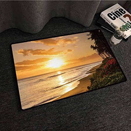 Tapis de Sol hawaïen pour Chambre à Coucher - Vert Amande ...