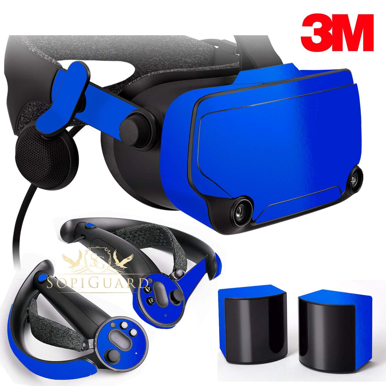 SopiGuard Skin for Steam Valve Index VR Headset Precision Vinyl Sticker Skin (3M Gloss Fire Blue) by SopiGuard