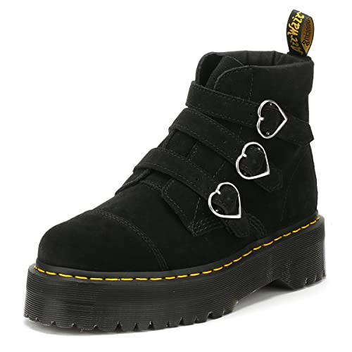 313bccca985 Dr. Martens Womens Lazy OAF Black Buckle Boots-UK 7: Amazon.co.uk ...