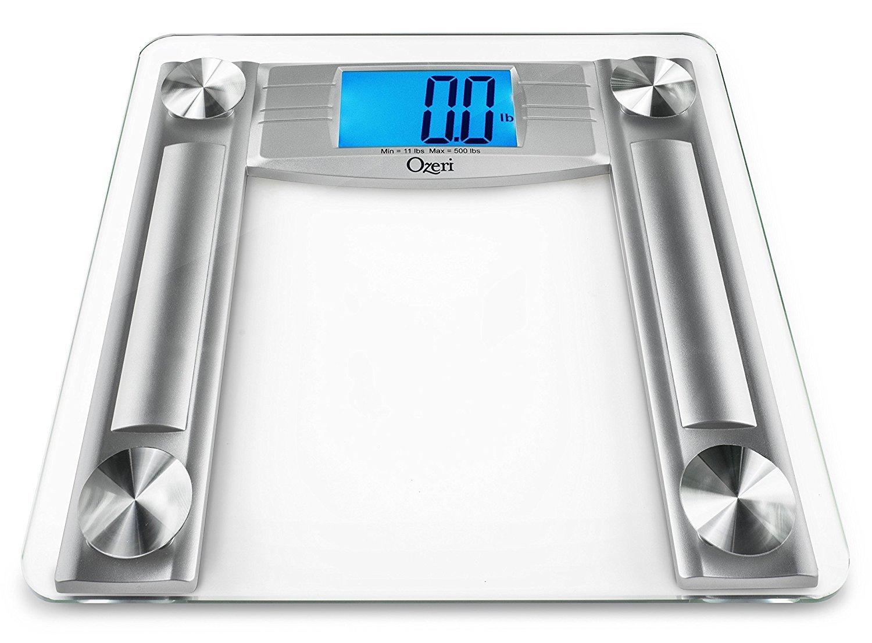 Báscula digital de baño Ozeri ProMax 230 kg, con cinta métrica y calibrador de grasa corporal: Amazon.es: Salud y cuidado personal