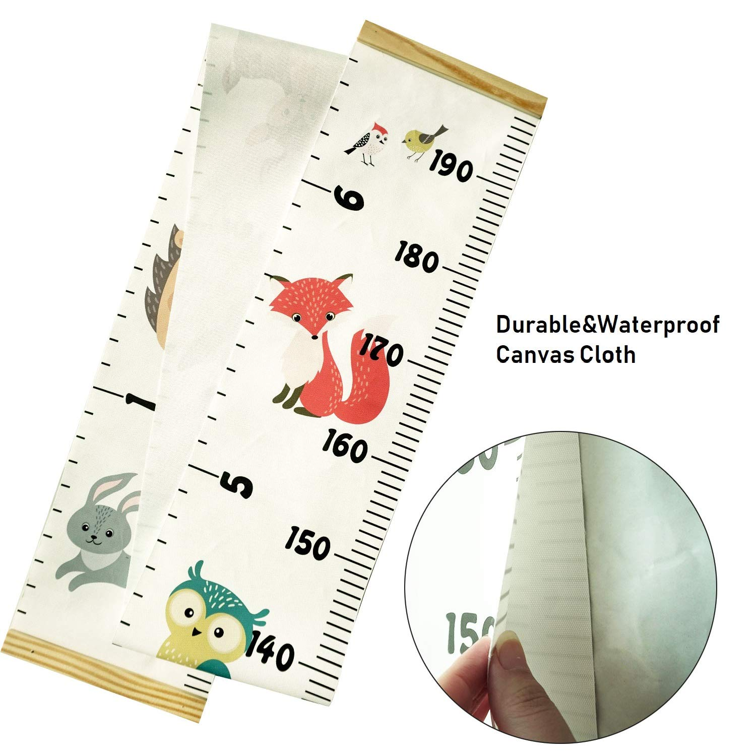 Girls Kids Room Familamb Kids Growth Chart Wall Ruler Wood Frame Fabric Canvas Height Measurement Ruler for Boys Wall Decor Car Toddlers Great for Nurseries