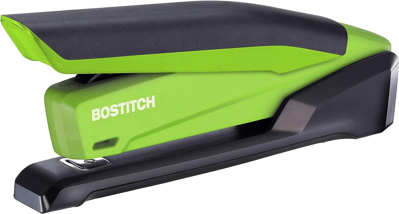 Bostitch InPower Spring-Powered Desktop Stapler, Green (1123)