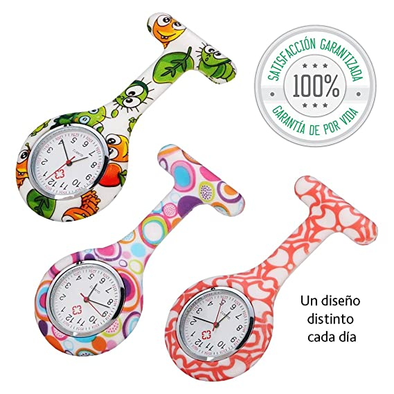 Tillmanns® Reloj Enfermera 3 unidades - Relojes De Enfermera - Reloj Bolsillo Enfermera - Relojes