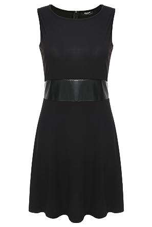 Zeagoo Damen Elegant A-Line Partykleid Ärmellos Cocktailkleid Festliche  Kleider Jacquard Kleid  Amazon.de  Bekleidung 3bd8e0c265