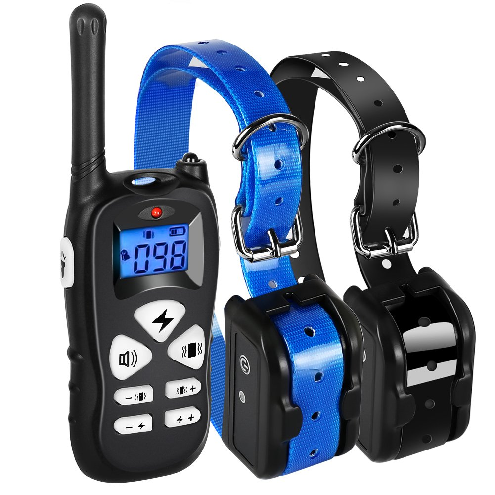Ticent Dog Training Collar 2 Dogs 1800ft Remote Waterproof Rechargeable Electric Shock Collar Beep/Vibration/Shock Modes Small Medium Large Dogs [2018 New Version]