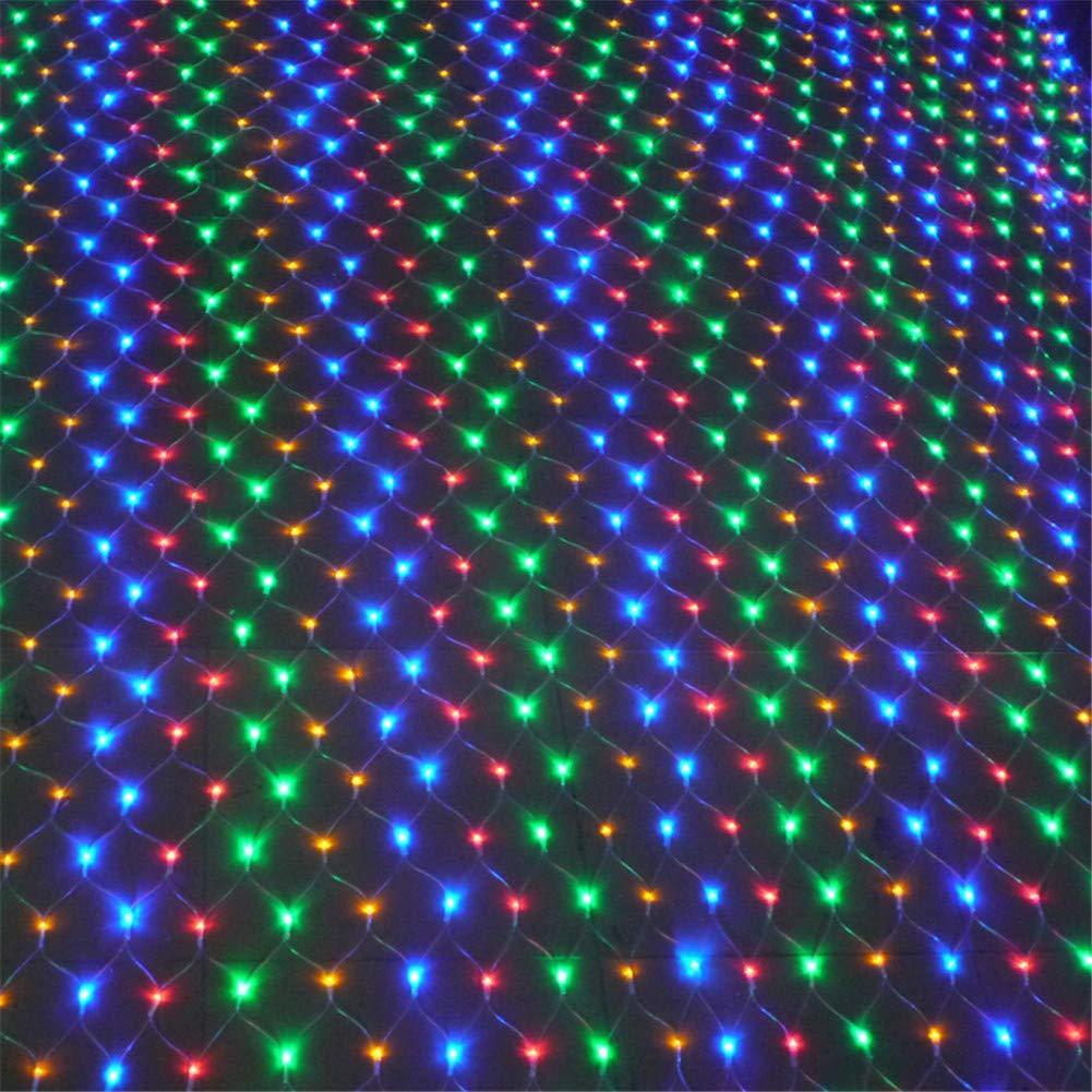 MS.REIA 6  4m Maglie variopinte della Stringa della Legatura della Maglia, Decorazione di Natale del Giardino di Affari di Risparmio energetico della Luce della Corda della Rete Netta