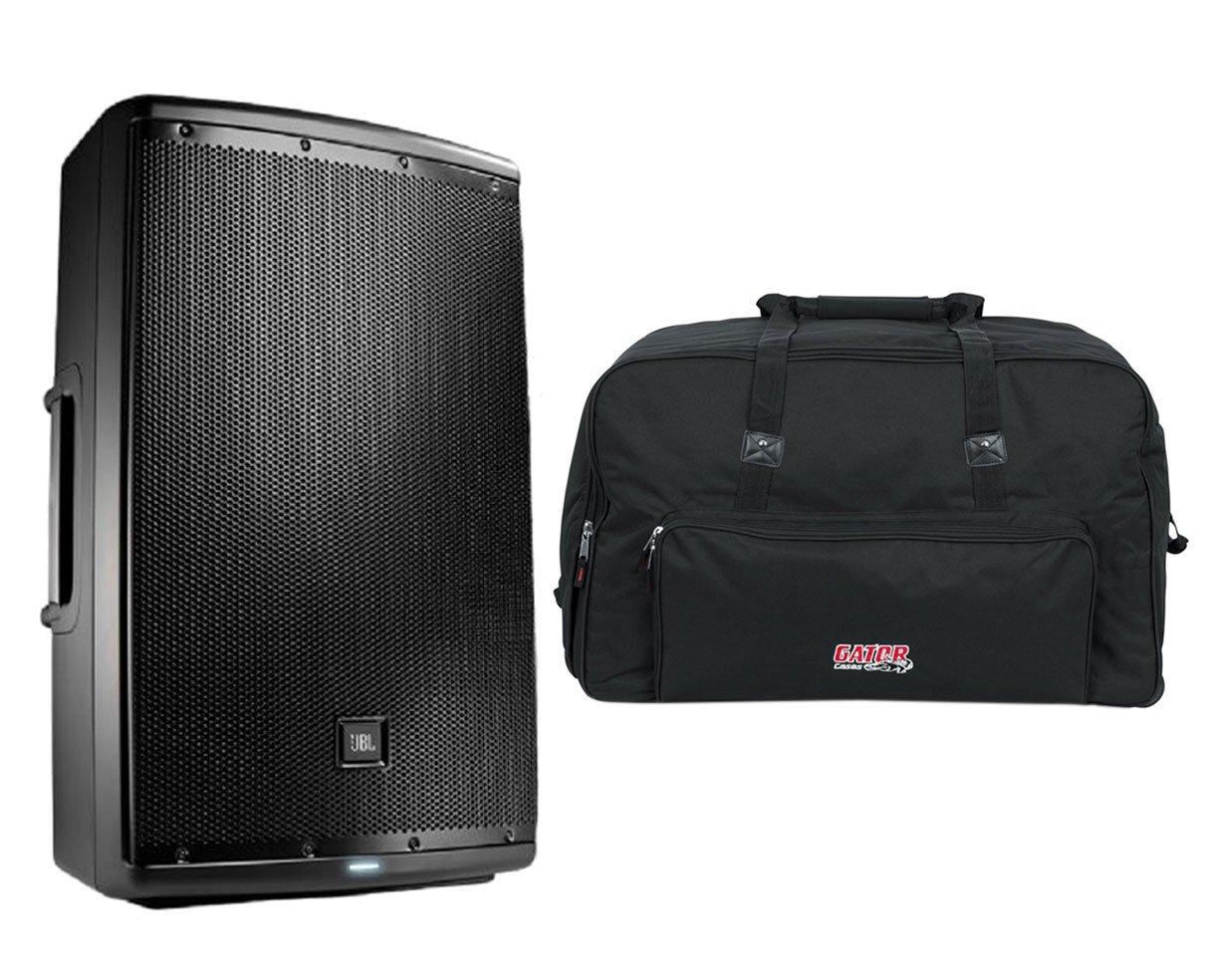 JBL EON615 EON 615 1000 Watt Powered 15'' Active Speaker + Bag Case w/Wheels