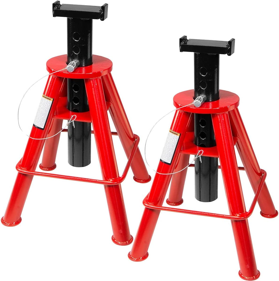 Stark 22-Ton Capacity Jack Stands Pin Style Lock Adjustable Height Set of 2 Pair