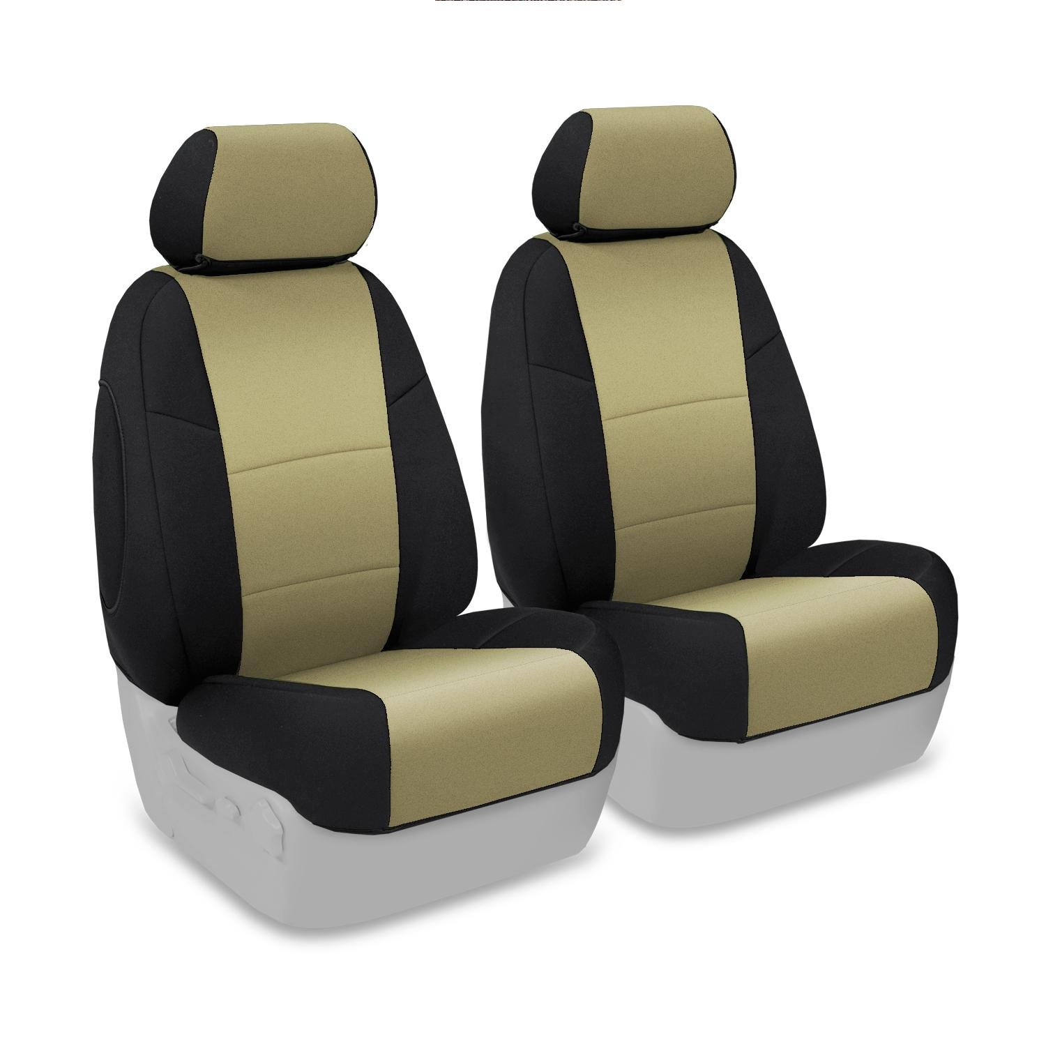 CSC2A5CH9492 Coverking Custom Fit Front 50//50 Bucket Seat Cover for Select Chevrolet Malibu Models Tan with Black Sides Neosupreme