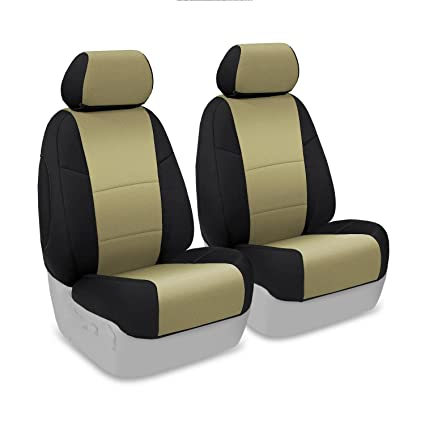 CSC2A5NS9769 Tan with Black Sides Coverking Custom Fit Front 40//20//40 Seat Cover for Select Nissan Titan Models Neosupreme
