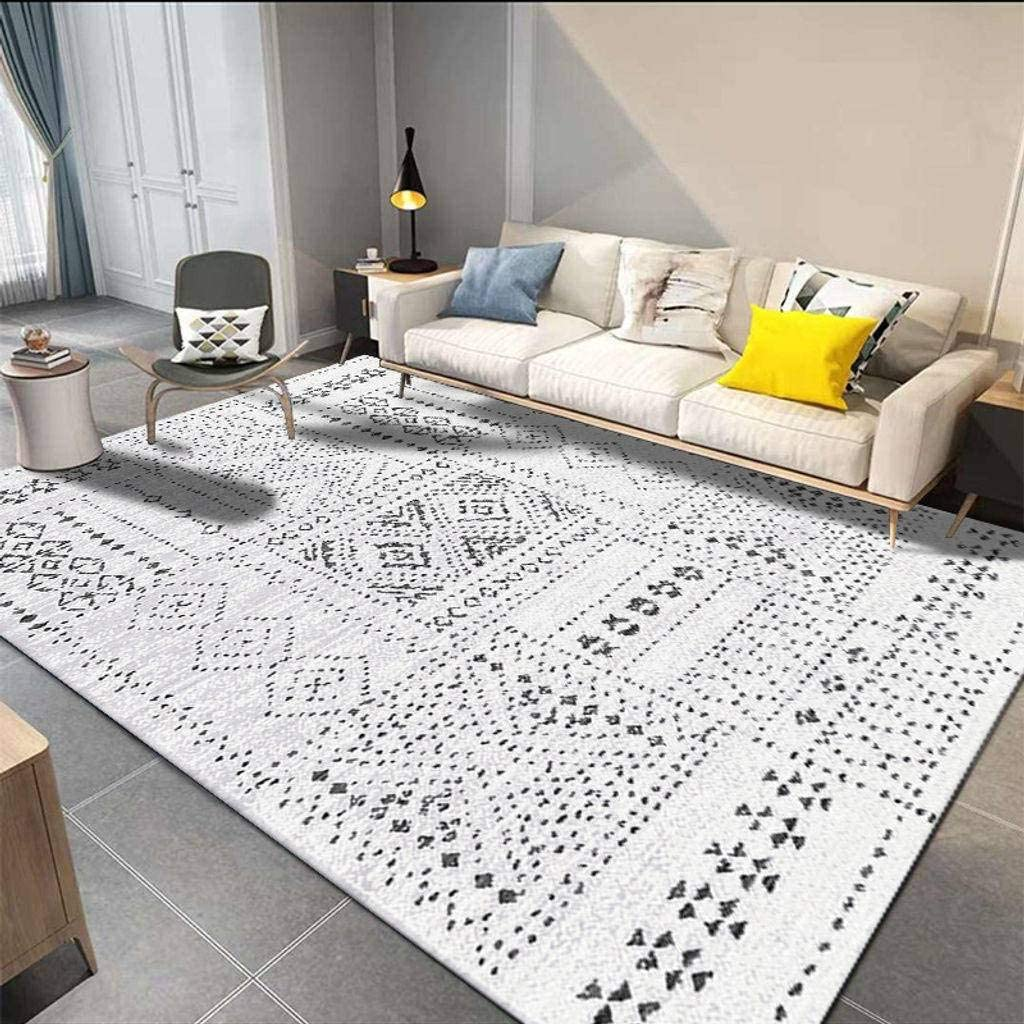 Ultra Soft Bohemian Rug Washable Rectangle Area Rug for Office Living Room Bedroom Nursery-A-120x160cm KXGL Printed Easy Clean Rug